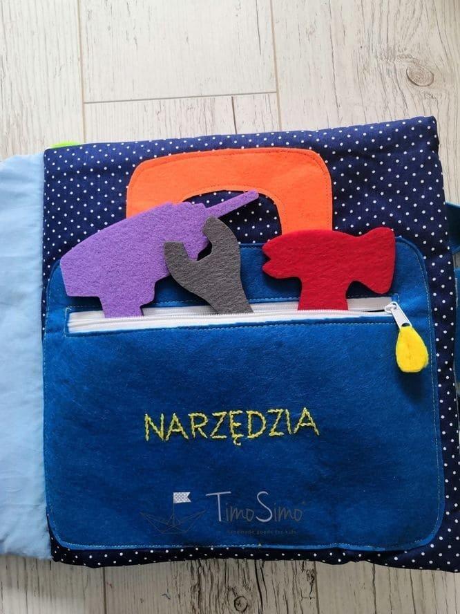 Książeczka sensoryczna Quiet book dla chłopca 3+