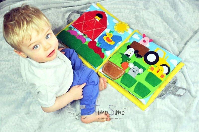 Książeczka sensoryczna Quiet Book dla dziecka 1+