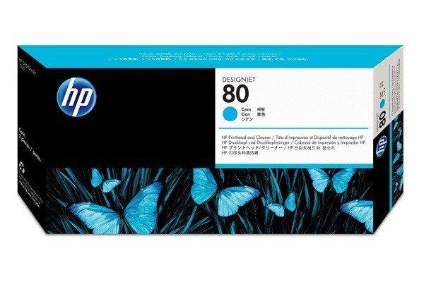 GŁOWICA HP 80 CYAN ORYGINALNA + CLEANER C4821A