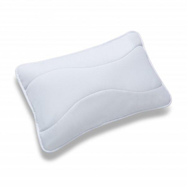 Poduszka dla dziecka, poduszka antyalergiczna z wypełnieniem silikonowym – BIAŁA