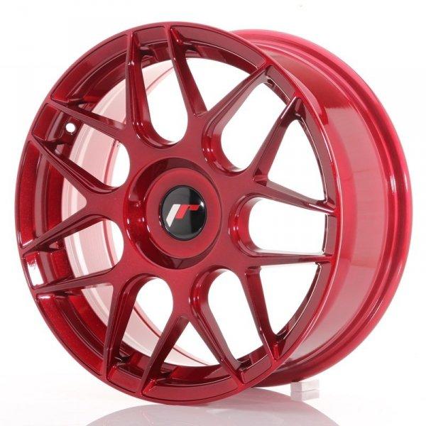 Japan Racing JR18 17x7 ET20-40 Blank Platinum Red