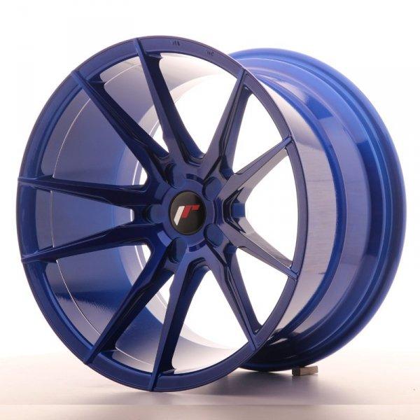 Japan Racing JR21 19x11 ET15-30 5H Platinium Blue