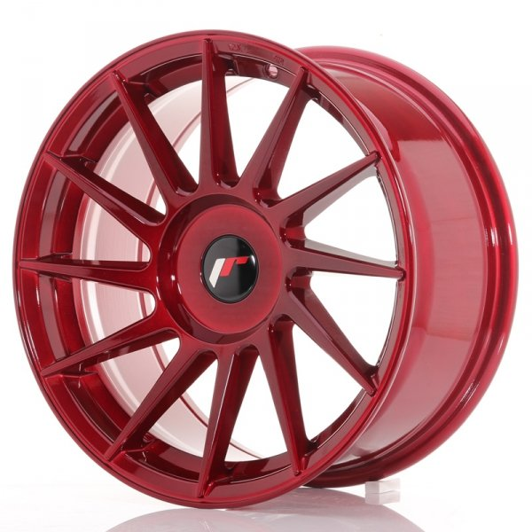 Japan Racing JR22 17x8 ET25-35 Blank Platinum Red