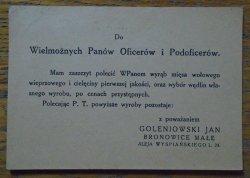 kartka pocztowa • 'Do wielmożnych Panów Oficerów i Podoficerów'