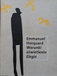 Emmanuel Hocquard • Warunki oświetlenia Elegie