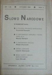Słowo Narodowe nr 1/1990
