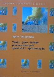 Agata Skórzyńska • Teatr jako źródło ponowoczesnych spektakli społecznych