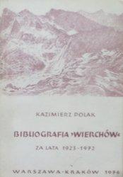 Kazimierz Polak • Bibliografia Wierchów za lata 1923-1972