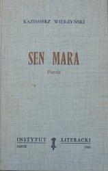 Kazimierz Wierzyński • Sen Mara. Poezje [Instytut Literacki]
