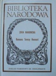 Zofia Nałkowska • Romans Teresy Hennert