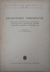 materiały konferencji, Kraków 1953 • Krakowskie odrodzenie [Biblioteka Krakowska 109]