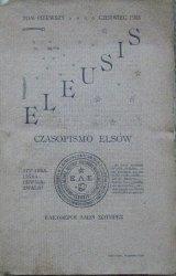 red. Szczęsny Turowski • Eleusis. Czasopismo Elsów tom próbny, pierwszy