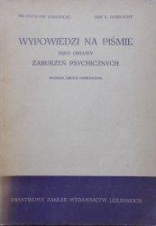 Władysław Chłopicki, Jan Olbrycht • Wypowiedzi na piśmie jako objawy zaburzeń psychicznych
