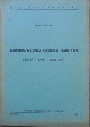 Henryk Jurkowski • Najwybitniejsze dzieła repertuaru teatru lalek. Szopka - Faust - Don Juan