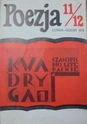 Poezja numer 11/12-1979 • Czasopismo literackie Kwadryga