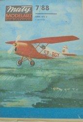 Mały Modelarz 7/1988 • Samolot akrobacyjny RWD-10. Szybowiec szkolny Czajka-bis