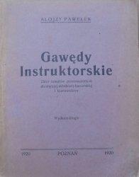 Alojzy Pawełek • Gawędy instruktorskie. Zbiór tematów przeznaczonych dla starszej młodzieży harcerskiej i kierowników [1920]