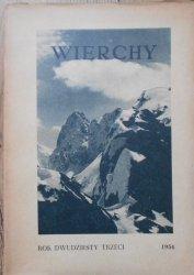Wierchy • Rocznik dwudziesty trzeci 1954