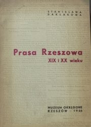 Stanisława Darłakowa • Prasa Rzeszowa XIX i XX wieku