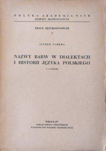 Alfred Zaręba • Nazwy barw w dialektach i historii języka polskiego