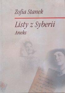 Zofia Stanek • Listy z Syberii. Aneks