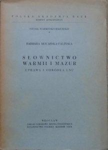 Barbara Mocarska-Falińska • Słownictwo Warmii i Mazur. Uprawa i obróbka lnu