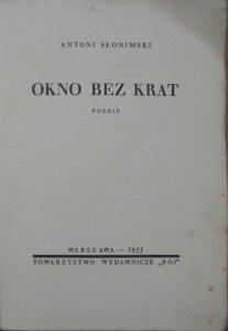 Antoni Słonimski • Okno bez krat [1935]