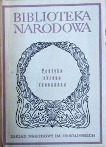 Elżbieta Sarnowska-Temeriusz • Poetyka okresu renesansu. Antologia
