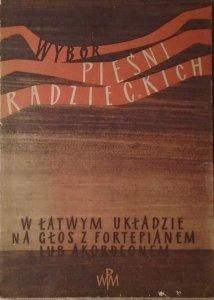 red. Zofia Lissa • Wybór pieśni radzieckich w łatwym układzie na głos z fortepianem lub akordeonem