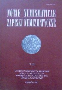 Zapiski numizmatyczne t. II [numizmatyka]