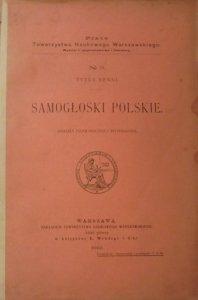 Tytus Benni • Samogłoski polskie. Analiza fizjologiczna i systematyka