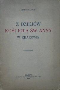 Henryk Barycz • Z dziejów Kościoła św. Anny w Krakowie [1935]