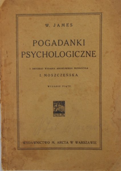 W. James • Pogadanki psychologiczne