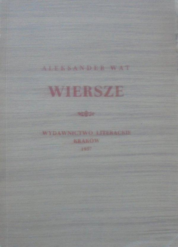 Aleksander Wat • Wiersze