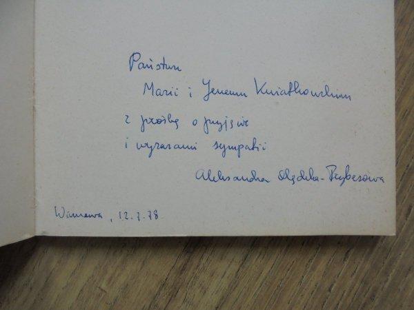 Aleksandra Olędzka-Frybesowa • Trochę więcej być [dedykacja autorska]