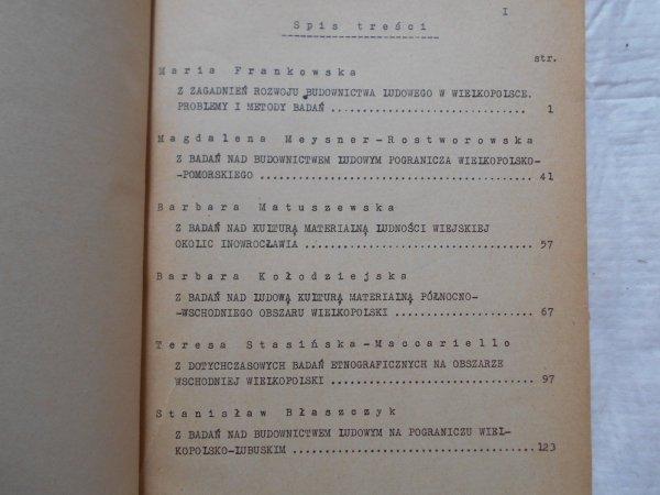 Z badań nad budownictwem ludowym w Wielkopolsce 1954-1957