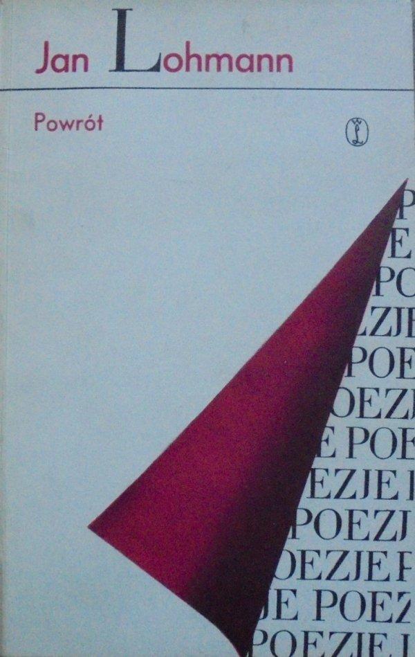 Jan Lohmann • Powrót [Zofia Darowska] [dedykacja autora]
