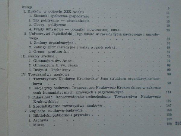 Janina Kras • Życie umysłowe w Krakowie w latach 1848-1870