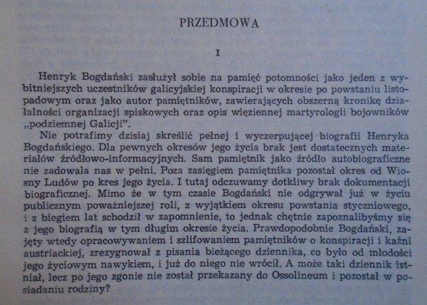 Henryk Bogdański • Pamiętnik 1832-1848 [Galicja]