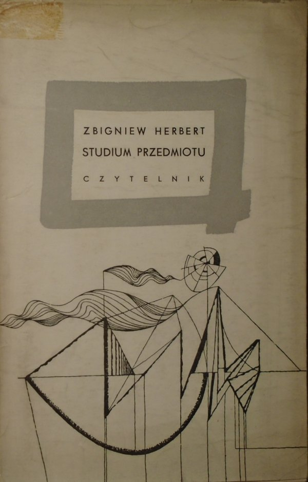 Zbigniew Herbert • Studium przedmiotu [1961]