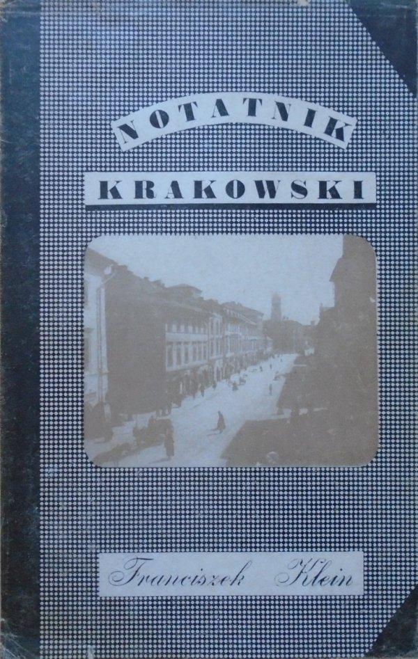 Franciszek Klein • Notatnik krakowski