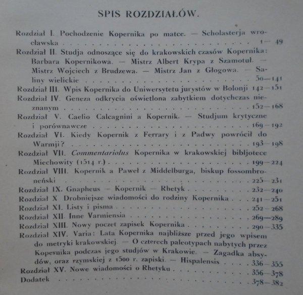 Ludwik Antoni Birkenmajer • Stromata Copernicana. Studia, poszukiwania i materiały biograficzne [Mikołaj Kopernik]