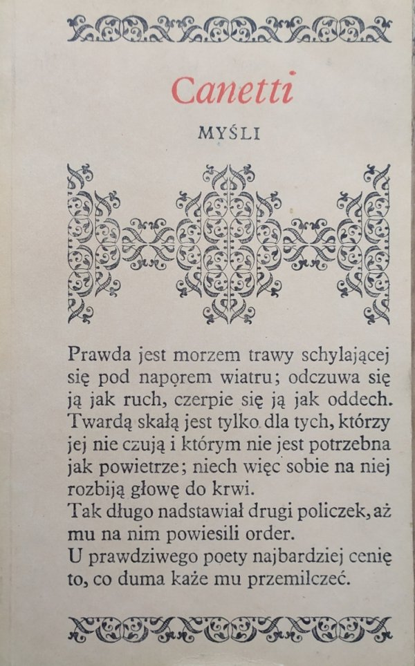 Elias Canetti Myśli