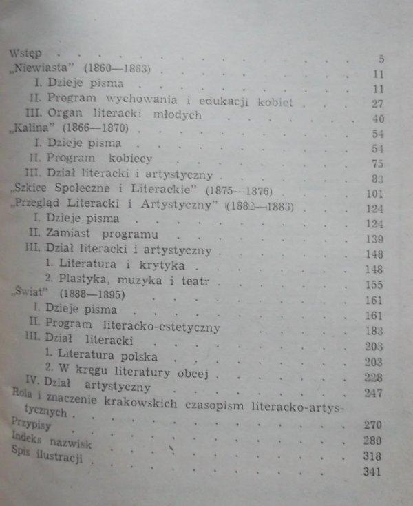 Aleksander Zyga • Krakowskie czasopisma literackie drugiej połowy XIX wieku (1860-1895)