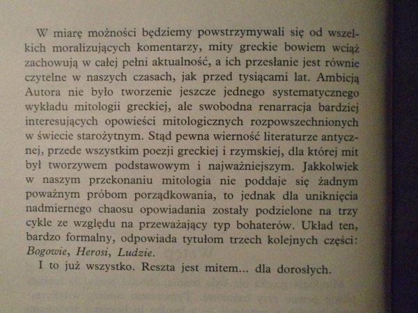 Stanisław Stabryła • Mitologia dla dorosłych. Bogowie, herosi, ludzie