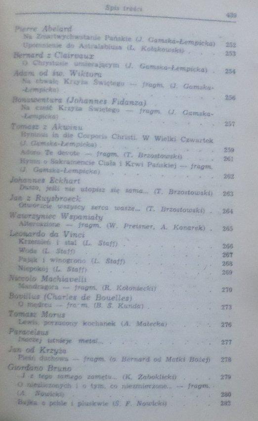 Wit Jaworski • Poezja filozofów [Orygenes, Abelard, Bacon, Leibnitz, Hegel, Nietzsche, Heidegger, Camus]