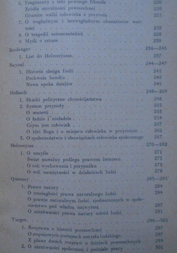 Filozofia francuskiego Oświecenia [Meslier, Mably, Wolter, Monteskiusz, Morelly, Deschamp i inni]