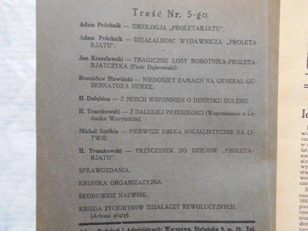 Kronika Ruchu Rewolucyjnego w Polsce 1/1936