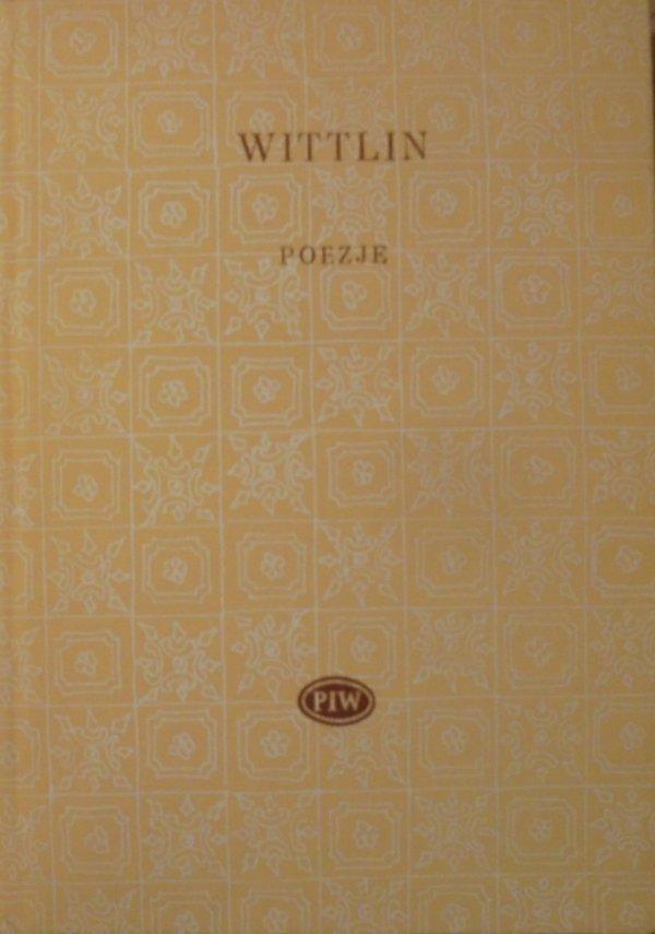 Józef Wittlin • Poezje [Biblioteka Poetów]