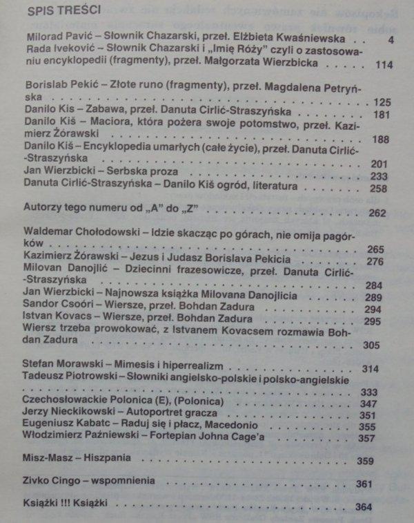 Literatura na świecie 1/1988 • Słownik chazarski